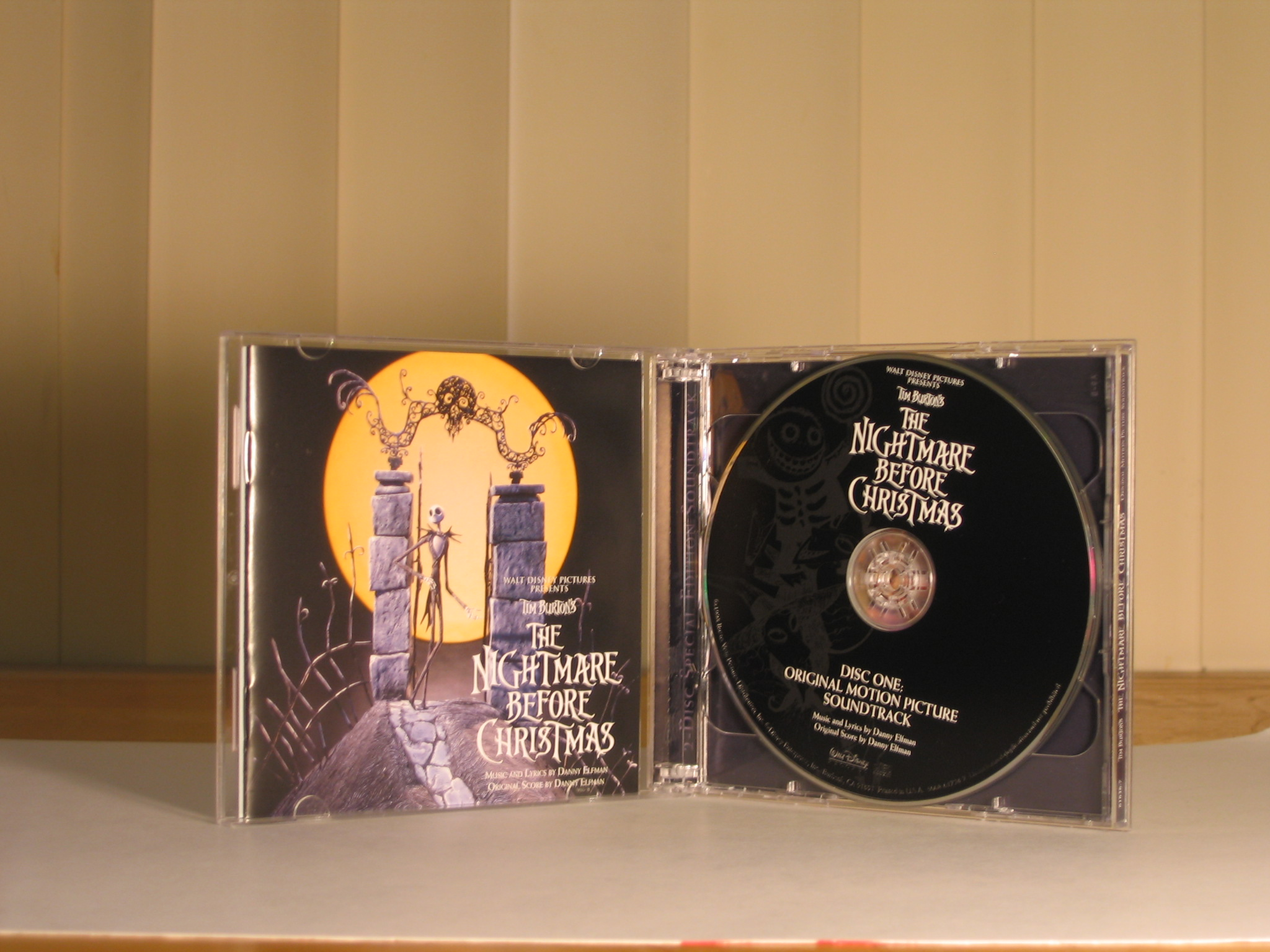 The Nightmare Before Christmas Official Soundtracks - The Pumpkin ...