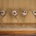 Jack Skellington Martini Glasses
