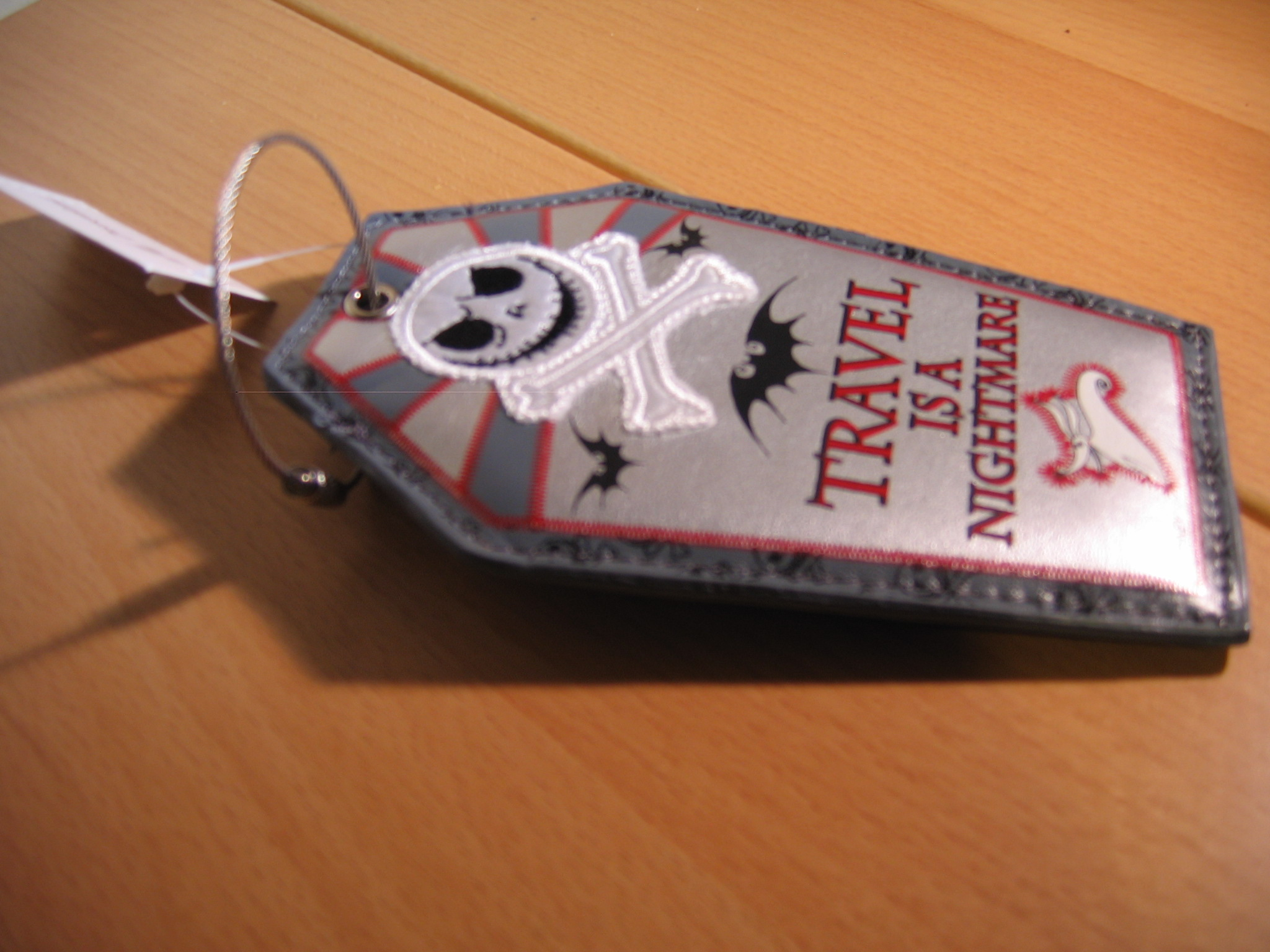 Travel Is A Nightmare Luggage Tags The Pumpkin King Collection Tag Mickey Head Before Christmas Front View