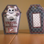 """The Nightmare Before Christmas"" Luggage Tags Front and Back Views"