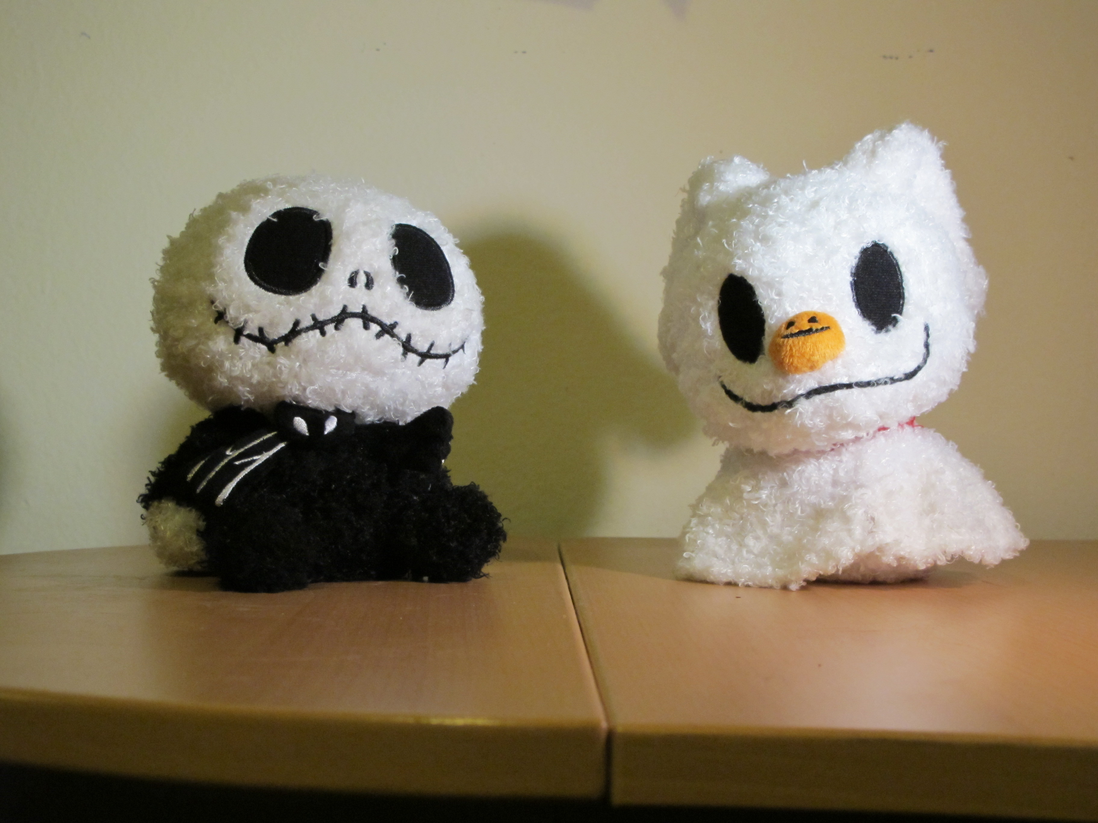 baby jack skellington and baby zero i own a few plush nightmare before christmas