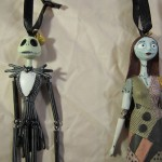 Jack Skellington and Sally Christmas Ornaments
