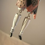 Closeup of Sally Christmas Ornament Legs