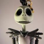 Closeup of Jack Skellington Christmas Ornament Head Front View