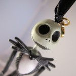 Closeup of Jack Skellington Christmas Ornament Head