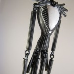 Closeup of Jack Skellington Christmas Ornament Body