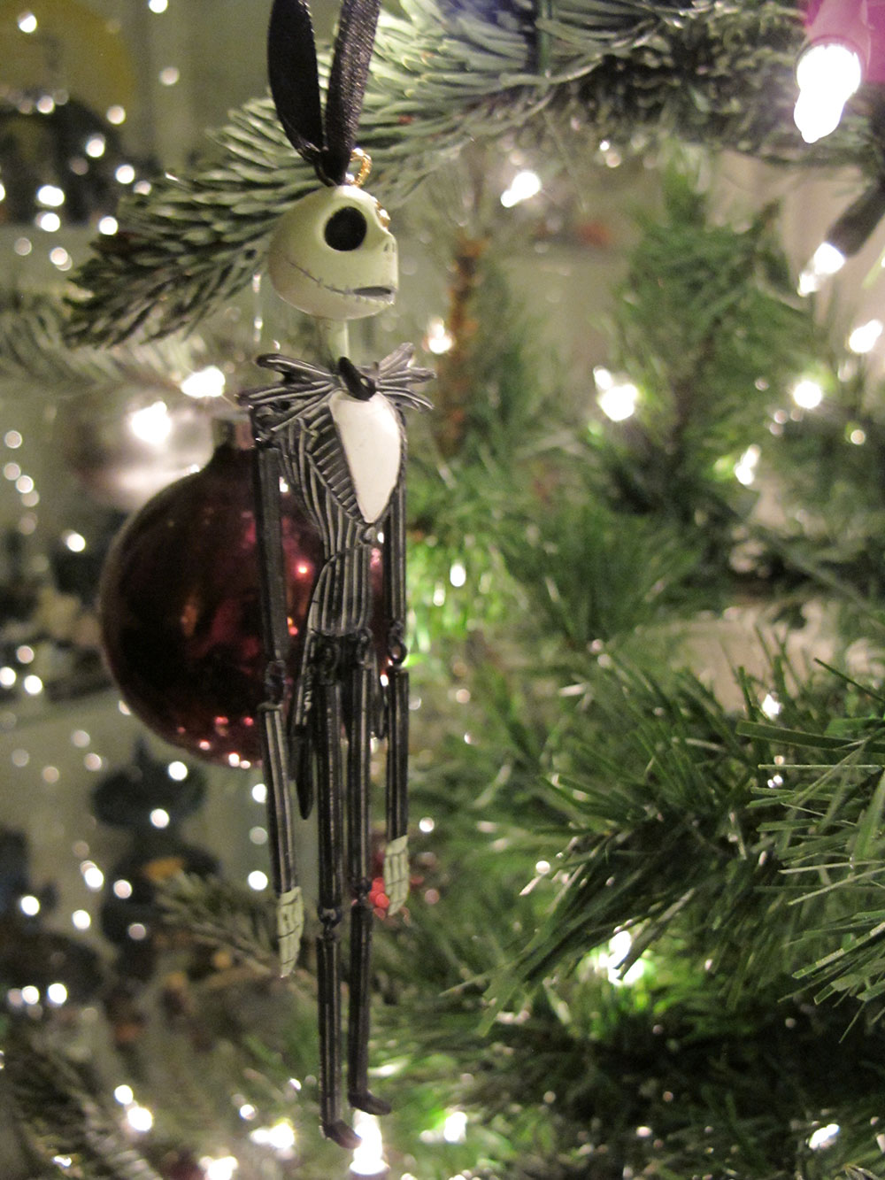 hanging jack skellington christmas ornament - Jack Skeleton Christmas Decorations