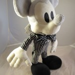Mickey Mouse as Jack Skellington Plush Doll Top 3/4 View
