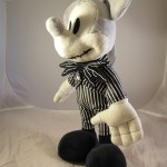 Mickey Mouse as Jack Skellington Plush Doll 3/4 View