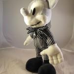 Mickey Mouse as Jack Skellington Plush Doll 3/4 View