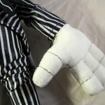 Closeup of Mickey Mouse as Jack Skellington Plush Doll Hand