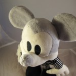 Closeup of Mickey Mouse as Jack Skellington Plush Doll 3/4 View
